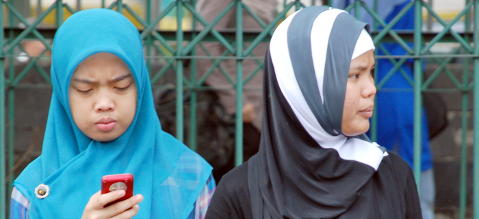 muslimische Frau auf der Suche nach der Ehe